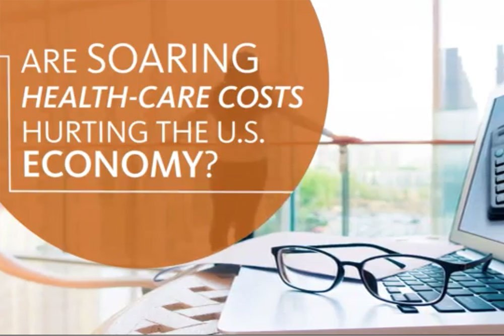 Cover image for the video showing the impact of soaring health care costs in the economy