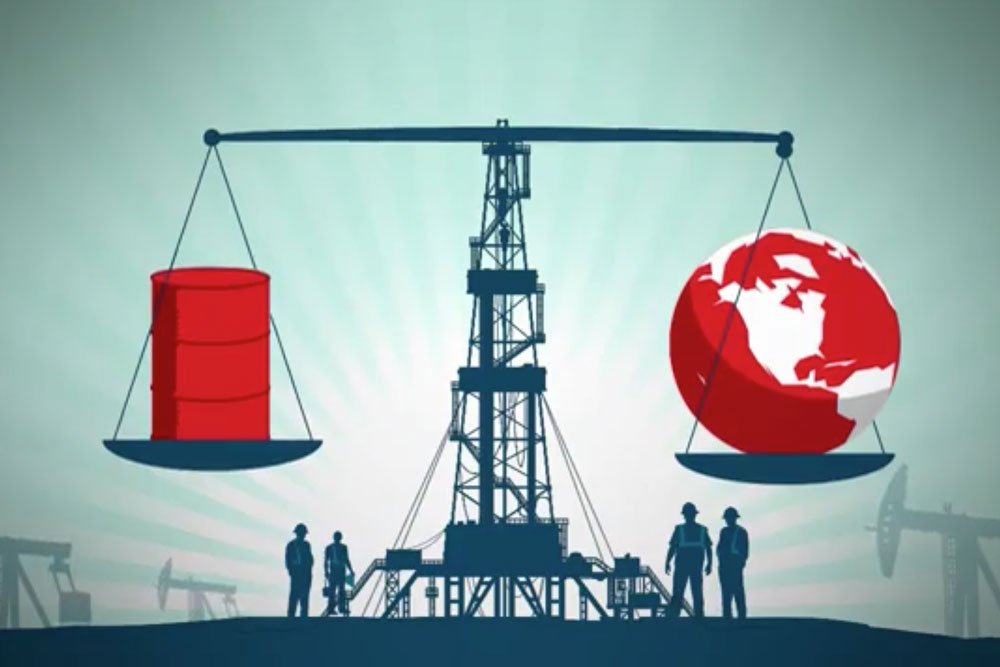 Cover image for the video showing the impact of what cheap oil is doing to the economy
